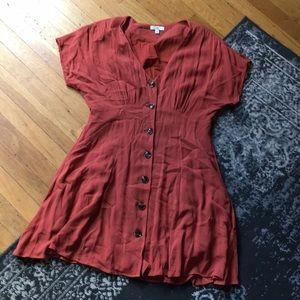BP rust colored dress